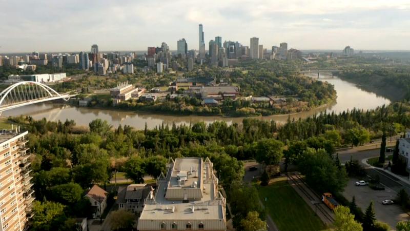 Edmonton, skyline, summer, Strathcona, Walterdale