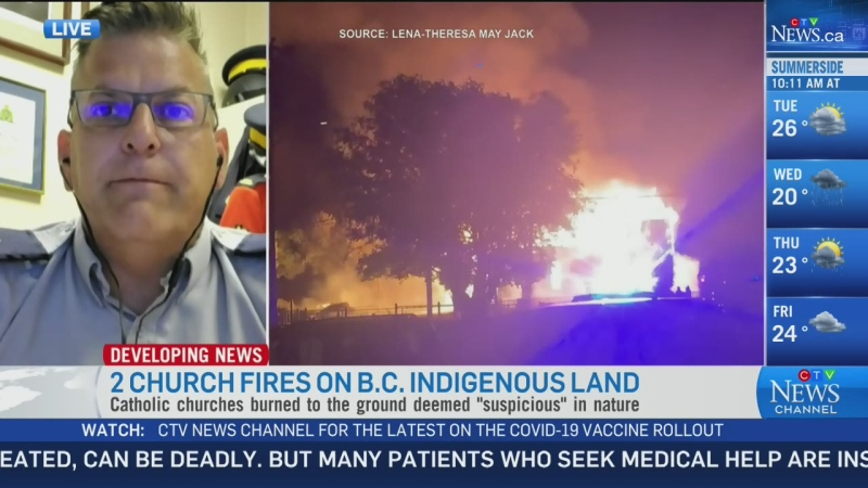 Police: Churches burned down very quickly