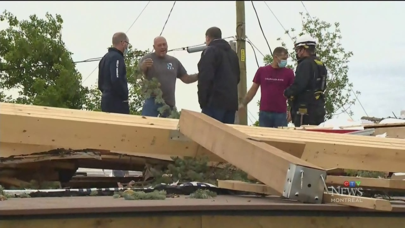 Mascouche residents are cleaning up in the aftermath of a tornado that tore through their town.