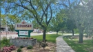 Riverside Drive at Winclare Drive where the proposed trail extension would begin in Tecumseh, Ont., on Tuesday, June 22, 2021. (Melanie Borrelli / CTV Windsor)