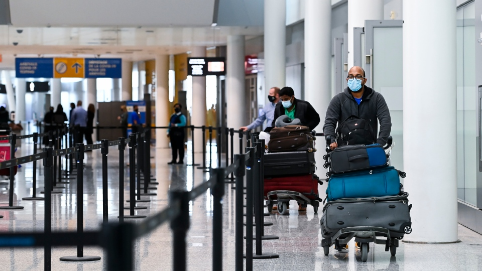 Pearson airport travellers