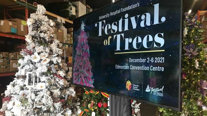 The University Hospital Foundation's Festival of Trees will welcome back guests to the in-person fundraiser Dec. 2 to 6 at the Edmonton Convention Centre.