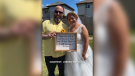 Michael and Tricia Pariseau were first married in 1994, then split up in 2013. They reunited during the pandemic, and married on the weekend of their anniversary on June 19, 2021. (Courtesy: Jordan Pariseau)