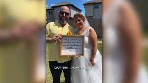 Michael and Tricia Pariseau were first married in 1994, then split up in 2013. They reunited during the pandemic, and married on their anniversary on June 18, 2021. (Courtesy: Jordan Pariseau)