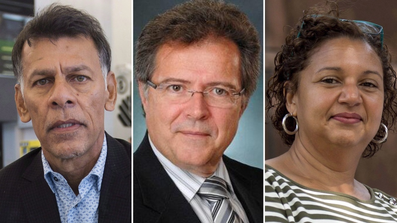 Hassan Yussuff, Jim Quinn, and Bernadette Clement are the three new Senate appointments (CTV News composite image, courtesy CP Images and Association of Canadian Port Authorities)