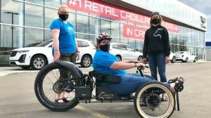 The Bowhead Reach Adaptive Mountain Bike is a specially designed e-bike with a range of up to 50 kilometres. (Evan Klippenstein/CTV News)