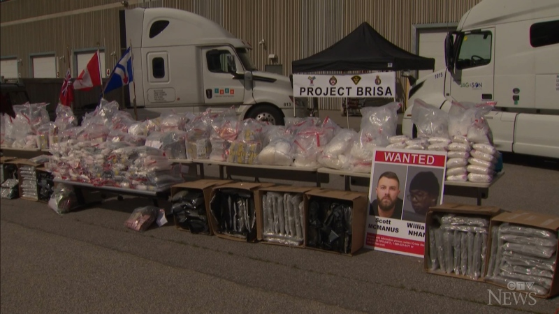 The Toronto Police Service made the largest drug takedown in its history, seizing over 1,000 kg worth of cocaine and methamphetamine.