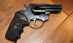 Sault Ste. Marie police located a .38 calibre revolver with the serial number tampered with while executing a search warrant Monday. Two people have been charged. (Supplied)