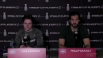 Montreal Canadiens Cole Caufield and Phillip Danault