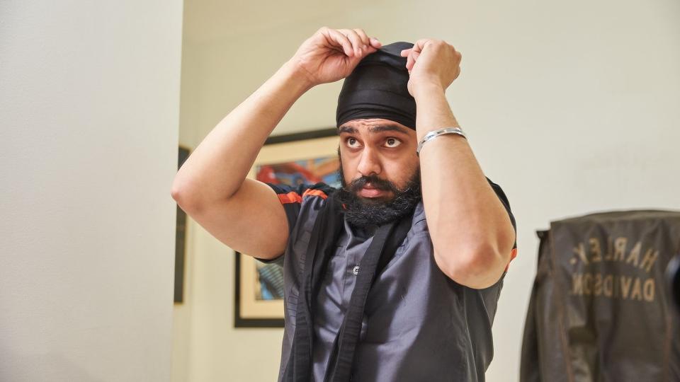 Tough Turban preparing