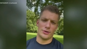 Las Vegas Raiders defensive end Carl Nassib took to Instagram Monday and announced he is gay, making him the first active National Football League player to do so.