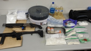 St. Albert RCMP seize more than $40,000 in illegal drugs. (Credit: RCMP)