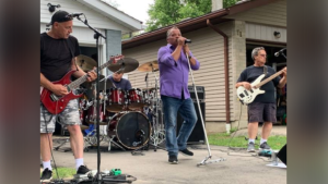 A Guelph musician was fined $1,500 for hosting an outdoor concert this past weekend. (Photo supplied by Graham Baker)