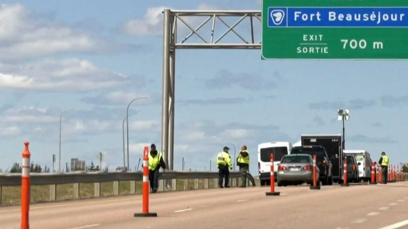 Shock on the N.B. side of border