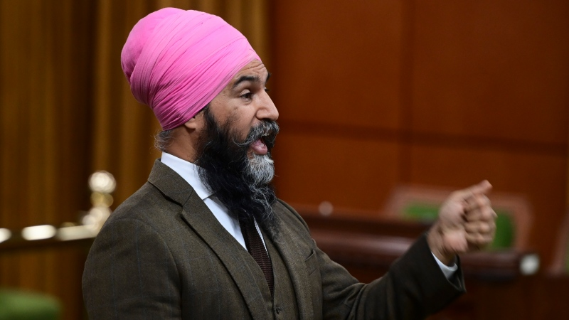 NDP Leader Jagmeet Singh rises during question period in the House of Commons on Parliament Hill in Ottawa on Tuesday, June 22, 2021. THE CANADIAN PRESS/Sean Kilpatrick