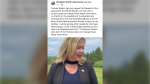 Cumberland North MLA Elizabeth Smith-McCrossin made a post in social media Tuesday afternoon, encouraging people to join the protest to shut down the Trans-Canada Highway. (FACEBOOK)