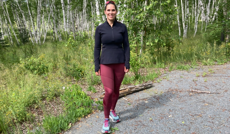 Ultra runner Elizabeth Taillefer plans to run a continuous 100 miles -- the equivalent of 161 kilometres -- at Kivi Park. She's done it before and plans to do it again for a foundation very dear to her. (Alana Everson/CTV News)