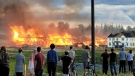 A large fire on Beckview Drive on Tuesday, June 22, 2021. (Supplied by Jallaina Manwell)