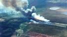 Wildfire EWF075 burning near Evansburg. (Source: Alberta Wildfire)