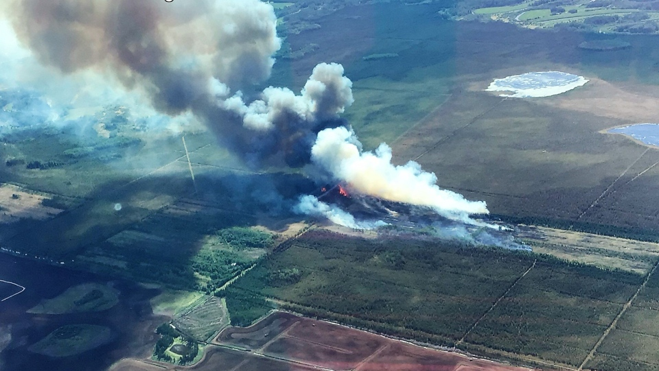 Evansburg wildfire