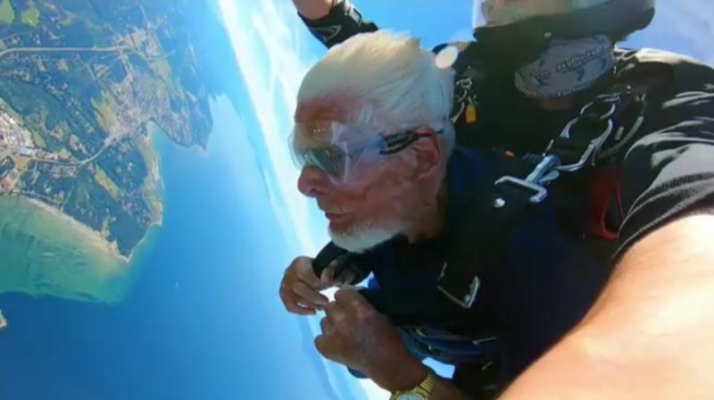 Sawatsky Sign-off- Skydiving Centenarian