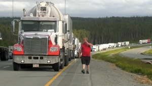 TransCanada Highway blockade