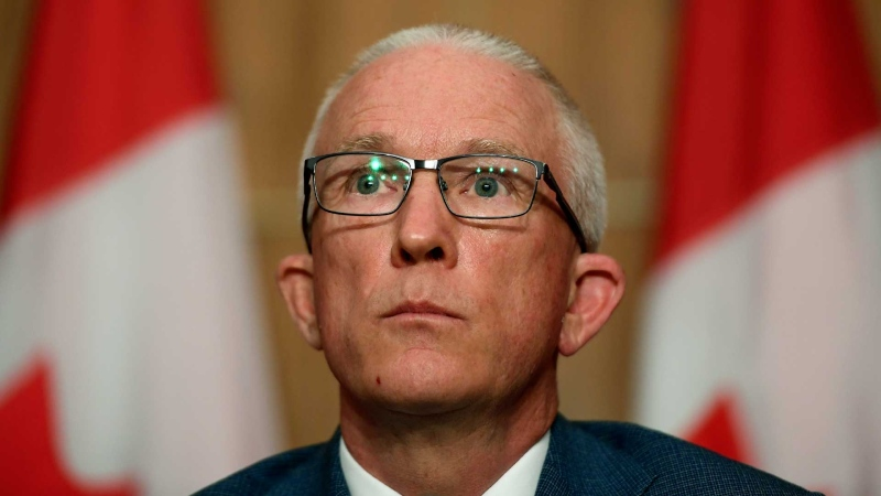 Gregory Lick, the National Defence and Canadian Armed Forces Ombudsman, speaks during a news conference after releasing a position paper on the ongoing misconduct crisis in the Canadian military in Ottawa on Tuesday, June 22, 2021. THE CANADIAN PRESS/Justin Tang