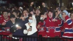 Habs fans go wild after 4-1 win
