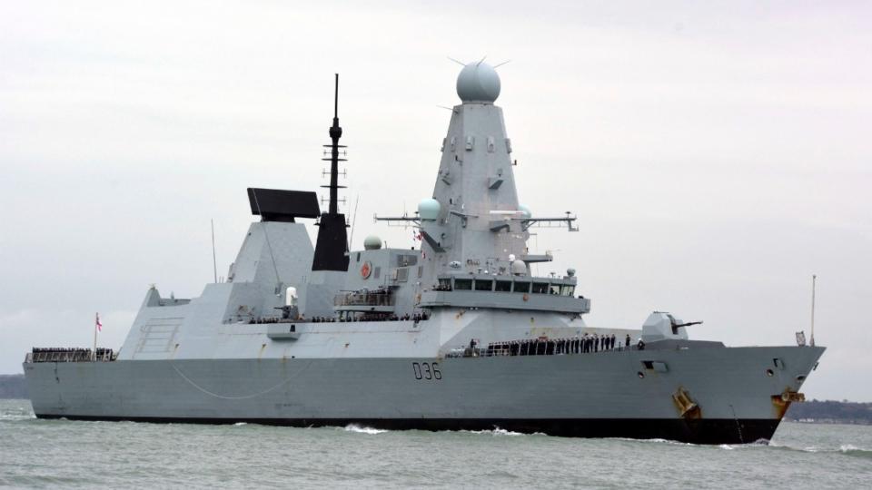 HMS Defender in Portsmouth, England in 2020