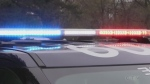Barrie Police lights (Mike Arsalides/CTV News)