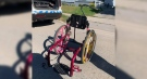 A child's damaged wheelchair is returned in London, Ont. on Wednesday, June 23, 2021. (Source: Haley Cushman / Facebook)