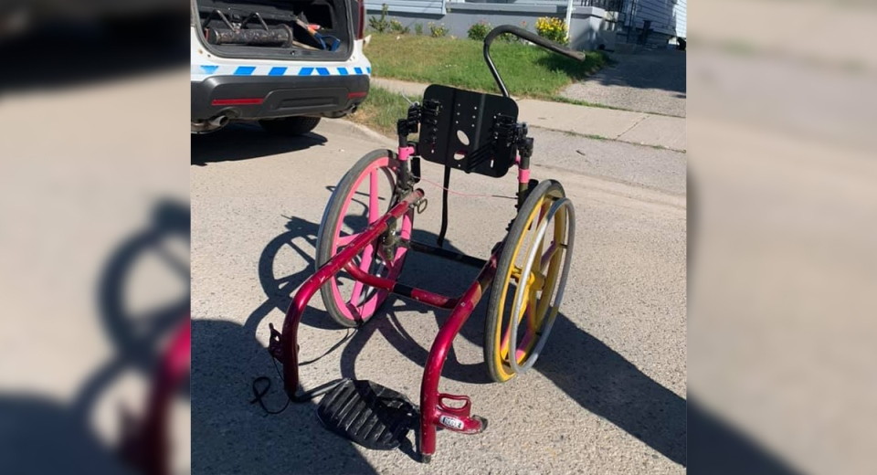 Wheelchair damaged