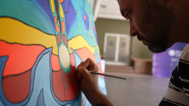 Ojibwe painter on the art of trying to heal