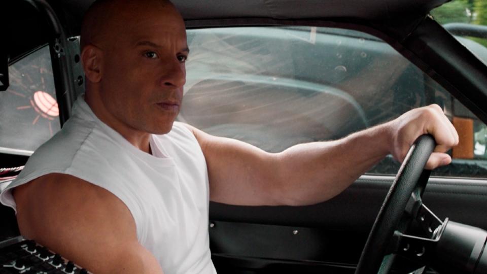 Vin Diesel in a scene from 'F9: The Fast Saga'