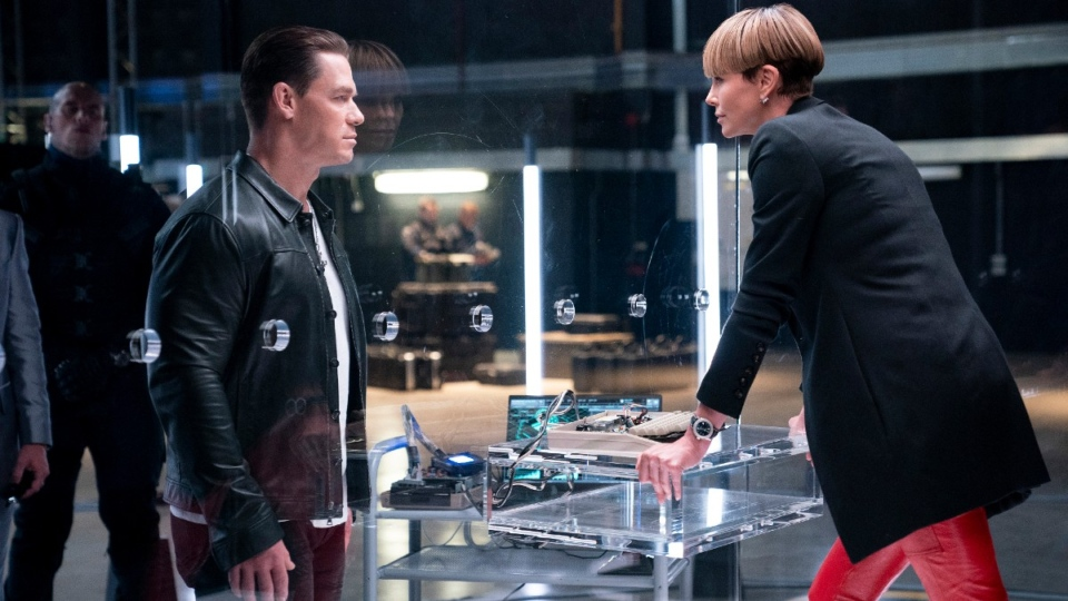 John Cena, left, and Charlize Theron in 'F9'