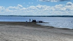 Police are searching Oka Beach for a 25-year-old Montreal man who has been missing since Sunday. (Ian Wood/CTV News)