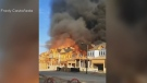 Fire destroys 12 homes under construction
