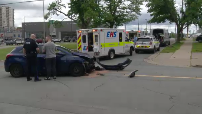 Around 12:20 p.m., officers with Halifax Regional Police responded to the collision near the intersection of Robie St. and Stairs St.