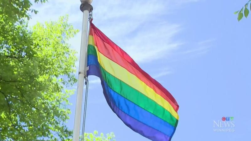 Man. investigating pride flag message to school