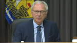 During Wednesday's live news conference, Premier Blaine Higgs also spoke about the COVID-19 related protest at the Nova Scotia/New Brunswick border on the Trans-Canada highway that began on Tuesday.