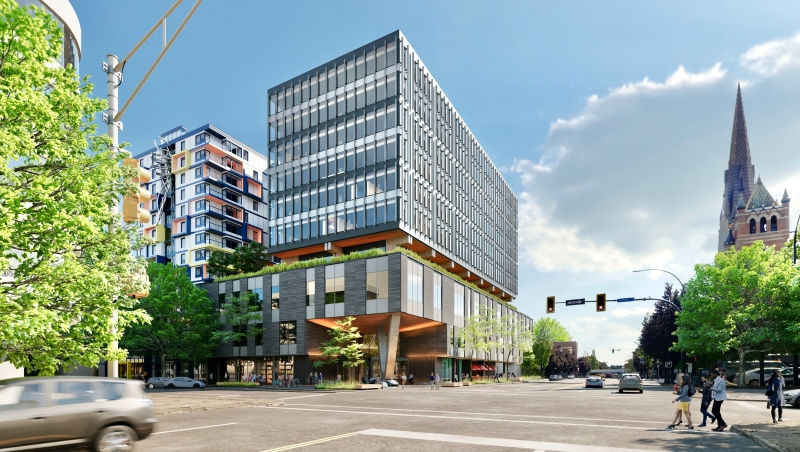A rendering of the building, dubbed Capital VI, is shown: (Jawl Properties)