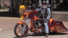 Rick DeYoung is also a self-taught motorcycle designer and builder. He learned how to do it through YouTube tutorials. (CTV ATLANTIC / PAUL HOLLINGSWORTH)