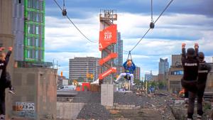 Cross-provincial zip line opens up in Canada