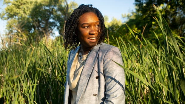 Poet and writer Canisia Lubrin is photographed in Whitby, Ontario on Tuesday June 15, 2021. THE CANADIAN PRESS/Chris Young