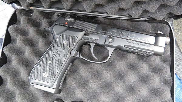 The gun that was reported stolen out of Nanaimo is shown: (West Shore RCMP)