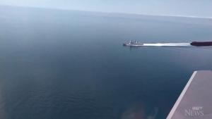Russia says video shows U.K. ship leaving area