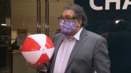 Nenshi, beach ball, Canada Day