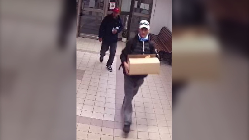 Two suspects allegedly involved in a Barrie theft on June 16, 2021