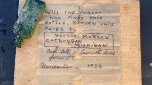 95-year-old message in a bottle discovered