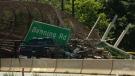 Aftermath of pedestrian bridge collapse in D.C.